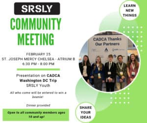 SRSLY Community Meeting @ St. Joseph Mercy Chelsea - Atrium Room B